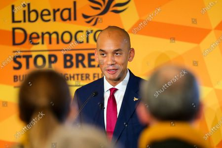 Liberal Democrat Foreign Affairs Spokesman and candidate of Cities of London & Westminster, Chuka Umunna speaks to party activists and supporters at Watford Football Club on Liberal Democrat foreign policy ahead of the NATO Leaders Conference.