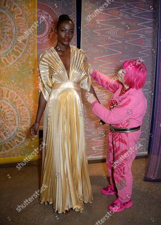 Uganda Miss World Top model finalist and Zandra Rhodes