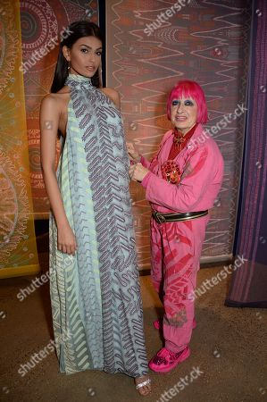 India Miss World Top model finalist and Zandra Rhodes