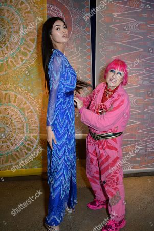 Kazakhstan Miss World Top model finalist and Zandra Rhodes