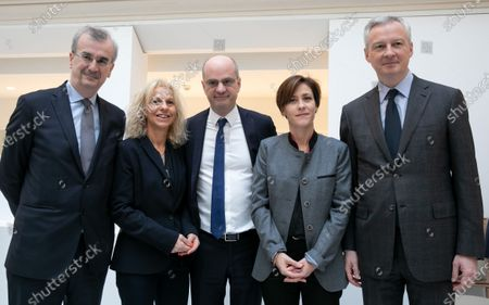 Francois Villeroy de Galhau Governor of the Bank of France, Jean-Michel Blanquer, Minister of National Education and Youth, Christelle Dubos, Secretary of State to the Minister of Solidarity and Health, Bruno Le Maire Minister of Economy and Finance