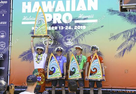 Editorial picture of World Surf League Hawaiian Pro Final, Haleiwa Alii Beach, Hawaii, USA - 24 Nov 2019