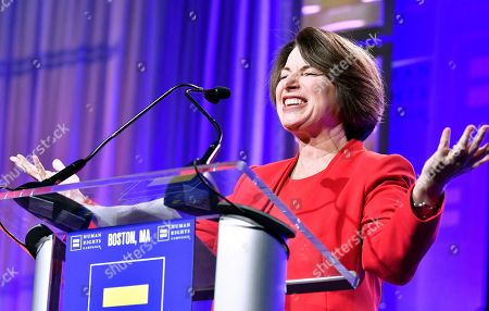 Sen. Amy Klobuchar D-Minn joined Human Rights Campaign President Alphonso David, and Actress Olympia Dukakis, as speakers at the 37th annual HRC New England dinner on in Boston. The HRC New England dinner brings hundreds of LGBTQ advocates and allies together for an evening of celebration across greater New England