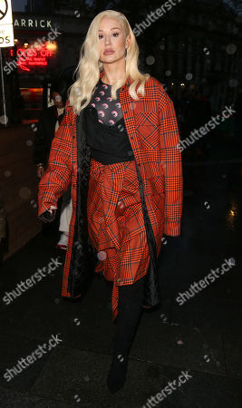 Editorial image of Iggy Azalea out and about, London, UK - 25 Nov 2019