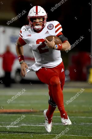 Nebraska quarterback Adrian Martinez (2) runs against Maryland during the second half of an NCAA college football game, in College Park, Md