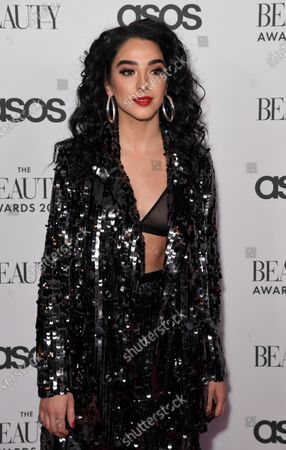 Editorial picture of The Beauty Awards, Arrivals, London, UK - 25 Nov 2019