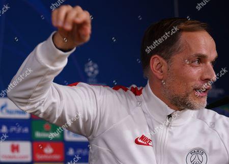 PSG Manager Thomas Tuchel  Press conference