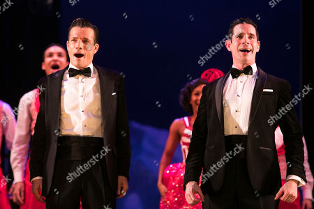 Danny Mac (Bob Wallace) and Dan Burton (Phil Davis) during the curtain call