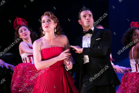 Danielle Hope (Betty Haynes) and Danny Mac (Bob Wallace) during the curtain call