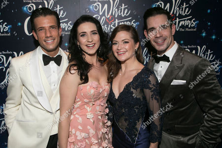 Danny Mac (Bob Wallace), Danielle Hope (Betty Haynes), Clare Halse (Judy Haynes) and Dan Burton (Phil Davis)