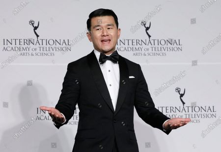 Ronny Chieng poses during the 47th International Emmy Awards Gala at the New York Hilton hotel in New York, New York, USA, 25 November 2019.