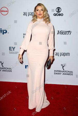 Marjorie de Sousa arrives for the 47th International Emmy Awards Gala at the New York Hilton hotel in New York, New York, USA, 25 November 2019.