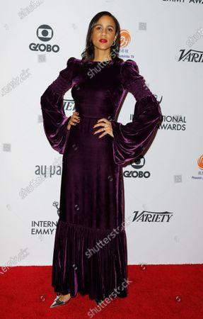 English actress Zawedde 'Zawe' Ashton arrives for the 47th International Emmy Awards Gala at the New York Hilton hotel in New York, New York, USA, 25 November 2019.