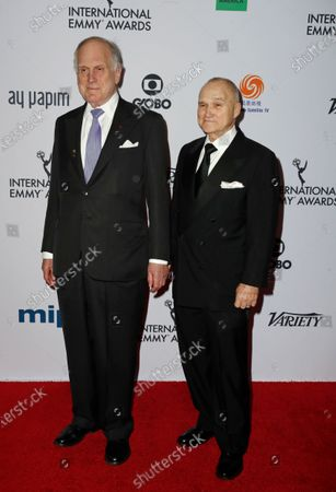 US businessman Ronald Lauder (L) and former New York City police commissioner Raymond Kelly arrive for the 47th International Emmy Awards Gala at the New York Hilton hotel in New York, New York, USA, 25 November 2019.