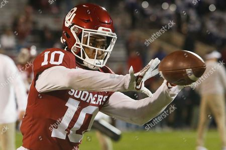 Stock Photo of Oklahoma safety Pat Fields (10) before an NCAA college football game against TCU in Norman, Okla