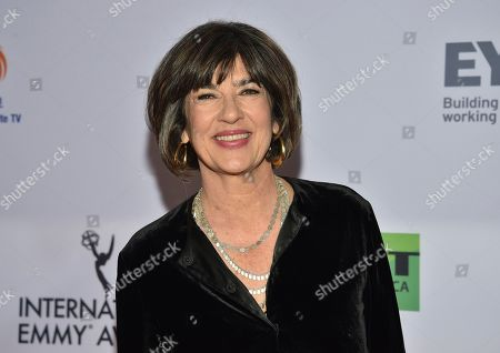 Christiane Amanpour arrives at the 47th International Emmy Awards gala at the Hilton Hotel, in New York