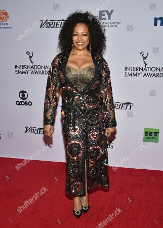 Kim Fields arrives at the 47th International Emmy Awards gala at the Hilton Hotel, in New York