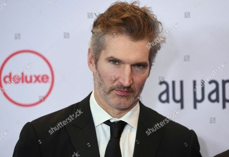 David Benioff arrives at the 47th International Emmy Awards gala at the Hilton Hotel, in New York