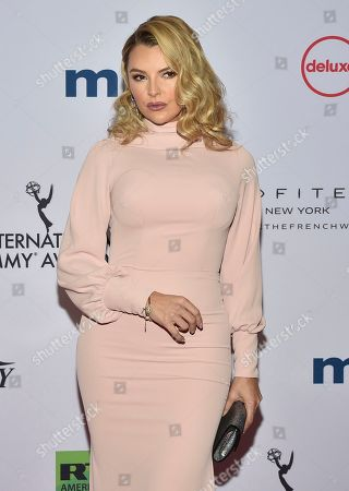 Marjorie de Sousa arrives at the 47th International Emmy Awards gala at the Hilton Hotel, in New York