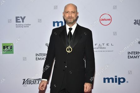 Stock Image of Michael Epstein arrives at the 47th International Emmy Awards gala at the Hilton Hotel, in New York