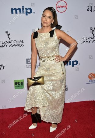 Ana Claudia Talancon arrives at the 47th International Emmy Awards gala at the Hilton Hotel, in New York