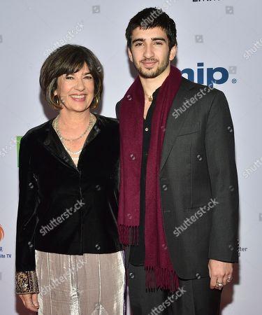 Christiane Amanpour, Darius John Rubin. Christiane Amanpour, left, and her son Darius John Rubin arrive at the 47th International Emmy Awards gala at the Hilton Hotel, in New York