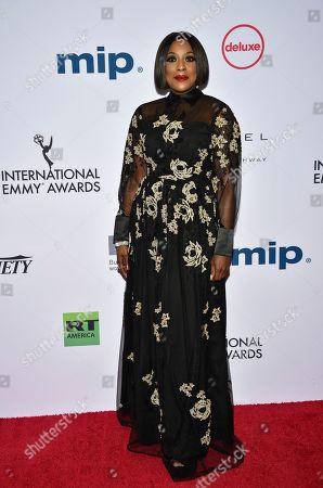 EbonyLife Media CEO Mo Abudu during the 47th International Emmy Awards gala at the Hilton New York, in New York