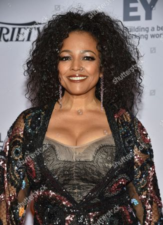 Stock Image of Kim Fields arrives at the 47th International Emmy Awards gala at the Hilton Hotel, in New York