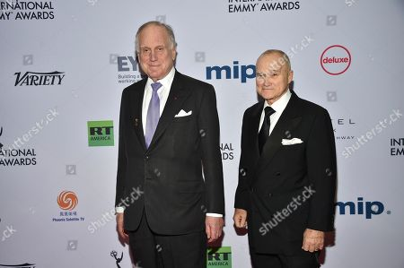 Ronald S. Lauder, Raymond Kelly. Ronald S. Lauder, left, and Raymond Kelly attend the 47th International Emmy Awards gala at the Hilton New York, in New York
