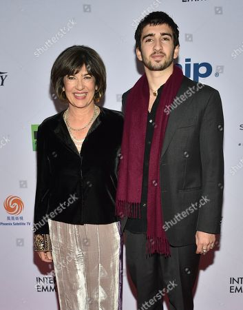 Christiane Amanpour, Darius Rubin. Honoree Christiane Amanpour, left, and son Darius Rubin attend the 47th International Emmy Awards gala at the Hilton New York, in New York