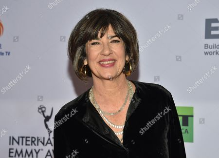 Christiane Amanpour attends the 47th International Emmy Awards gala at the Hilton New York, in New York