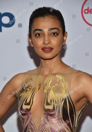 Radhika Apte arrives at the 47th International Emmy Awards gala at the Hilton Hotel, in New York