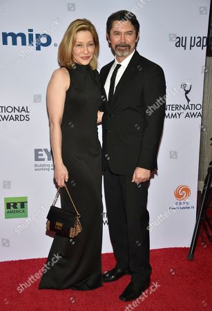 Yvonne Boismier Phillips, Lou Diamond Phillips. Yvonne Boismier Phillips, left, and Lou Diamond Phillips arrive at the 47th International Emmy Awards gala at the Hilton Hotel, in New York