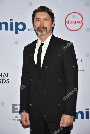 Lou Diamond Phillips arrives at the 47th International Emmy Awards gala at the Hilton Hotel, in New York