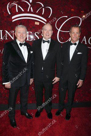 John F Lehman, Prince Albert II of Monaco and D. Christopher Le Vine