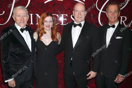 Stock Photo of John F Lehman, Brisa Trinchero, Prince Albert II of Monaco and D. Christopher Le Vine
