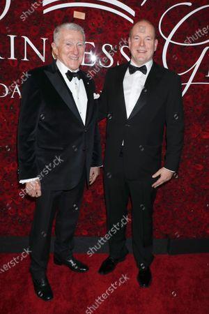 John F Lehman and Prince Albert II of Monaco