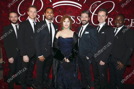 Bernadette Peters with the Broadway Boys