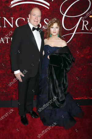 Prince Albert II of Monaco and Bernadette Peters