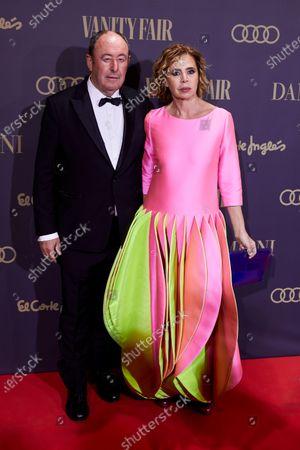Luis Miguel Rodriguez and Agatha Ruiz de la Prada