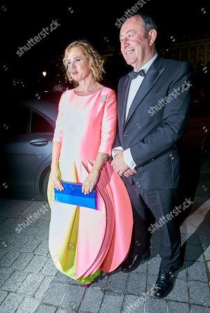 Agatha Ruiz de la Prada and Luis Miguel Rodríguez