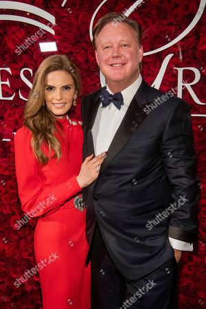 Stock Image of Brian France, Amy France. Amy France and Brian France attend the 2019 Princess Grace Awards Gala at The Plaza Hotel, in New York
