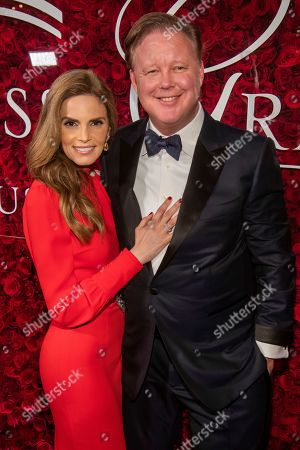 Brian France, Amy France. Amy France and Brian France attend the 2019 Princess Grace Awards Gala at The Plaza Hotel, in New York