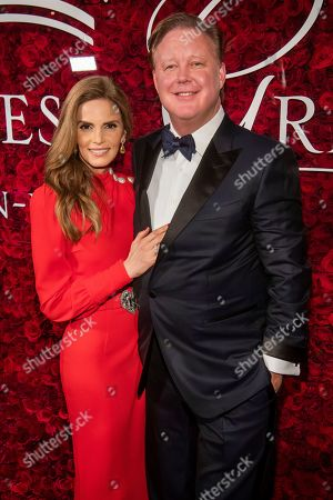 Stock Picture of Brian France, Amy France. Amy France and Brian France attend the 2019 Princess Grace Awards Gala at The Plaza Hotel, in New York
