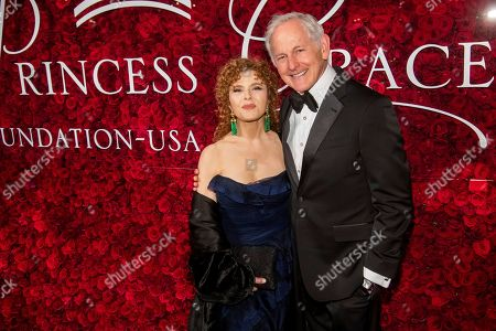 Bernadette Peters, Victor Garber. Bernadette Peters and Victor Garber attend the 2019 Princess Grace Awards Gala at The Plaza Hotel, in New York