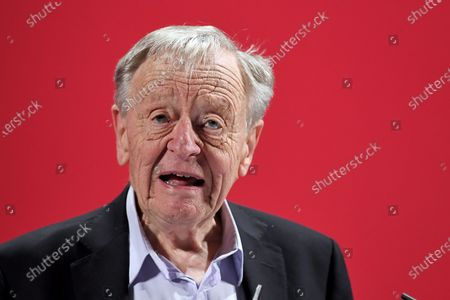 Lord Alf Dubs speaking at the launch of Labour's new Race and Faith manifesto.