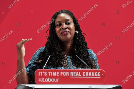 Dawn Butler, Shadow Women and Equalities Secretary, speaking at the launch of Labour's new Race and Faith manifesto.