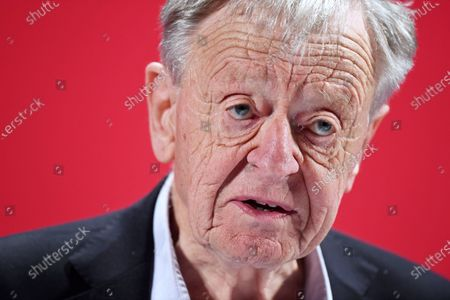 Stock Picture of Lord Alf Dubs speaking at the launch of Labour's new Race and Faith manifesto.
