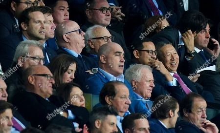 Petr Cech, top left, and Valencia owner Peter Lim, purple tie
