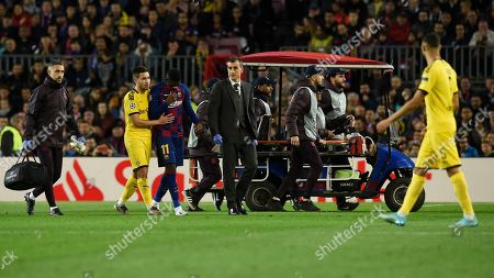 Stock Picture of Ousmane Dembele of FC Barcelona injury